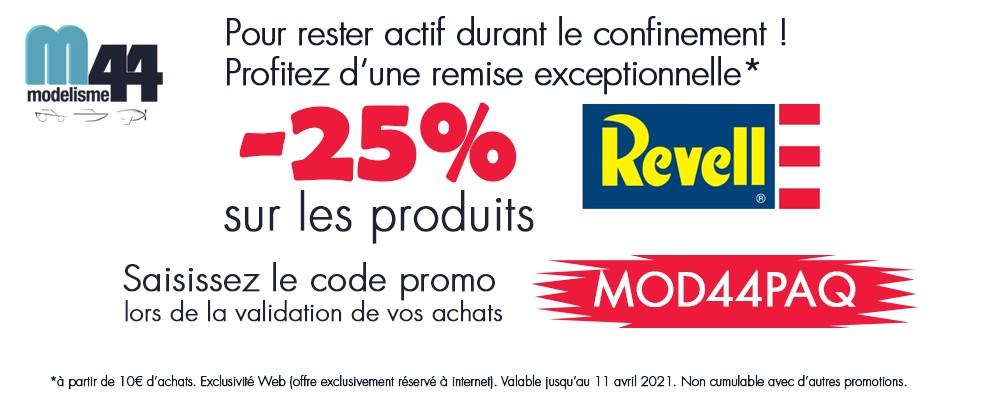 -25% sur les produits Revell